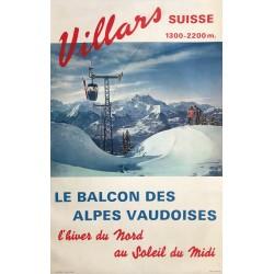 Villars. Le balcon des Alpes vaudoises. Vers 1970.