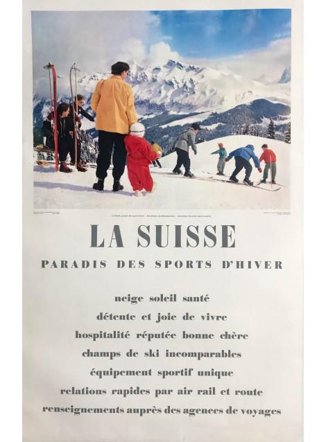 Philipp Giegel. La Suisse, paradis des sports d'hiver. Ca 1955.