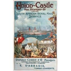 Frank Brangwyn. Union-Castle. South Africa. Ca 1895.