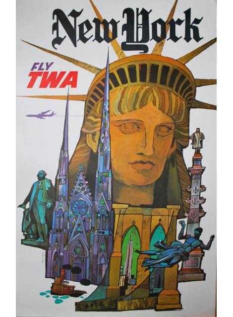 New York, TWA. David Klein. 1960.