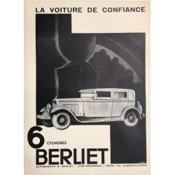Berliet 6 cylindres. La voiture de confiance. Vers 1930