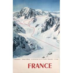 Tairraz. France. Chamonix - Mont-Blanc. Vallée Blanche. Ca 1960.