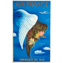 Lucien Boucher. Air France. Amérique du Sud. 1950.