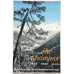 Oscar Darbellay. Lac Champex. Ca 1935.