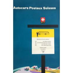 Fritz Kaltenbach. Autocars postaux suisses. 1954.