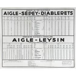 Aigle - Sépey - Diablerets. Aigle Leysin. 1960.