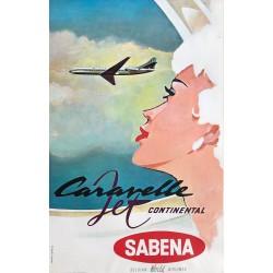 Gaston van den Eynde. Sabena. Caravelle Jet Continental. Ca 1960.