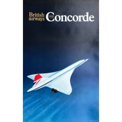British Airways. Concorde. Ca 1975.