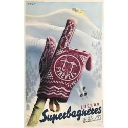 Roland Hugon. Superbagnères. 1937.