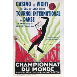 S. Strakoff. Championnat du monde de danse. Vichy. 1928.