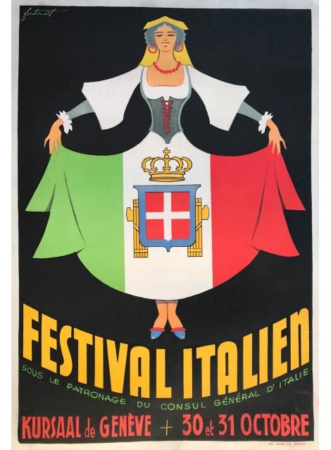 Noël Fontanet. Festival italien, Genève. 1937.