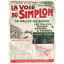 La voie du Simplon. 1912