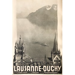 Agence Trio (Lausanne). Lausanne-Ouchy. Vers 1930.