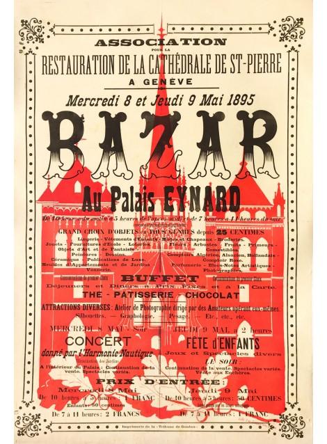 Cathédrale de Genève. Bazar de la restauration. 1895.