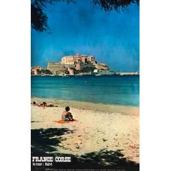 Bottin. Calvi, la mer. France, Corse. 1975.