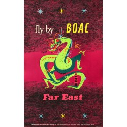 Maurice Laban. Fly by Boac. Far East. 1956.