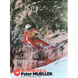 Skis Rossignol. Peter Mueller. 1979.