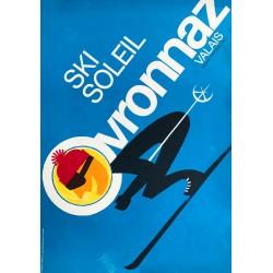 L. Lavanchy, F. Maumary. Ovronnaz, ski, soleil. 1974.