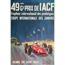 Michel Béligond. 49ème Grand Prix de l'ACF, Reims. 1963.