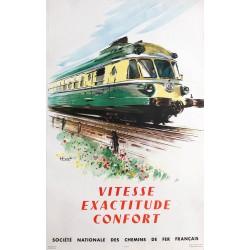 Albert Brenet. Vitesse. Exactitude. Confort. SNCF. 1958.