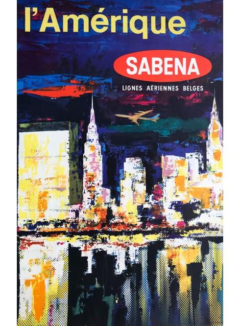 Brisart. Sabena. L'Amérique. Ca 1950