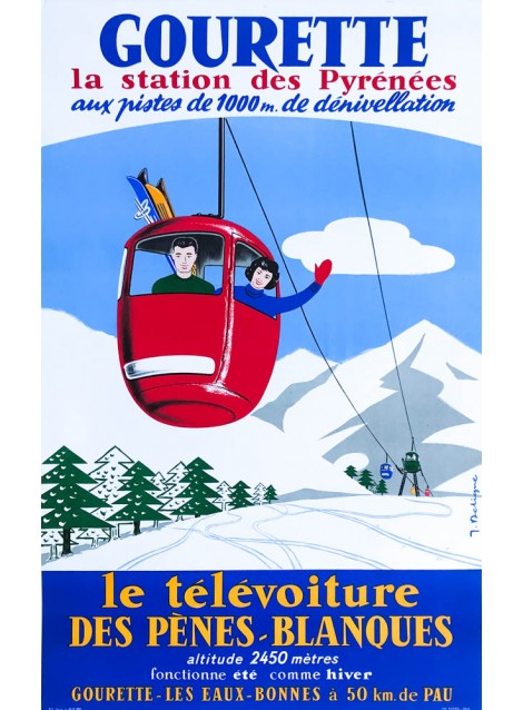 J. Deligne. Gourette. Vers 1960.