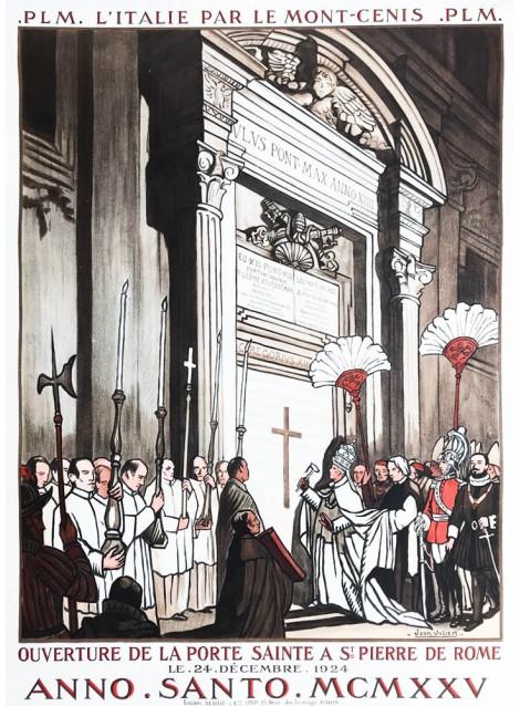 Jean Julien. PLM L'Italie par le Mont-Cenis. Année sainte. 1924.