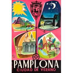 Francis Bartolozzi. Pamplona, Ciudad de Verano. Ca 1950.