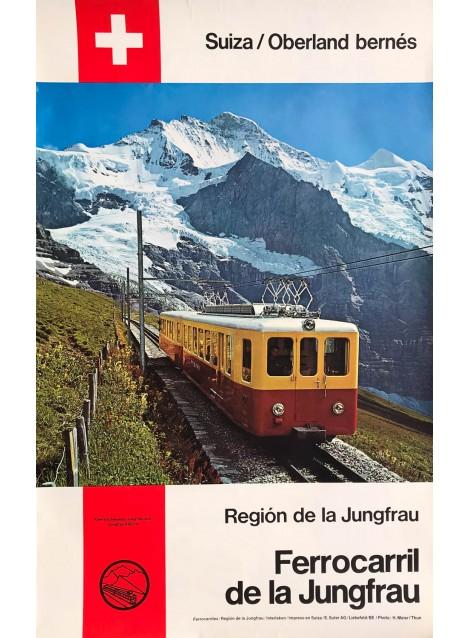 Ferrocarril de la Jungfrau. Ca 1970