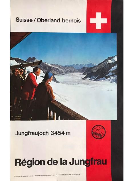 Région de la Jungfrau. Jungfraujoch 3454 m. Ca 1970.
