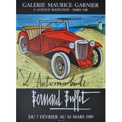 "Exposition Paris ""L'Automobile"". Bernard Buffet. 1985."
