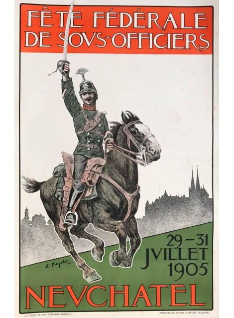 Ernst Beyeler. Fête fédérale des sous-officiers, Neuchâtel. 1905.