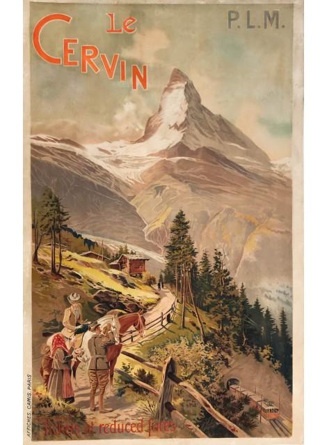 Louis Trinquier-Trianon. Le Cervin. Zermatt. PLM. Ca 1900.. .