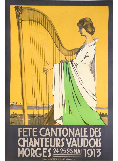 René Martin. Fête cantonale des chanteurs vaudois, Morges. 1913.