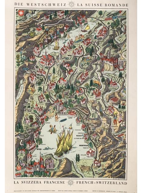 Die Westschweiz. La Suisse romande. 1939.