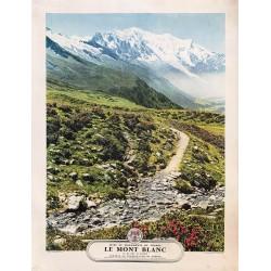 Feher. Le Mont-Blanc vu du Col de Balme. Vers 1950.