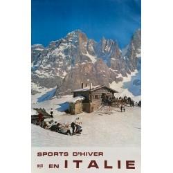 Sports d'hiver en Italie. 1964.