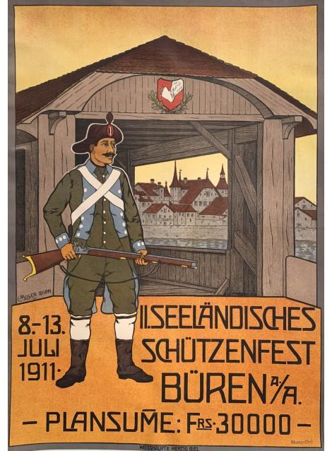 C. Moser. II.Seeländisches Schütenfest Büren. 1911.