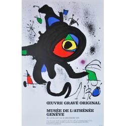 Exposition Genève. Joan Miró. 1973.