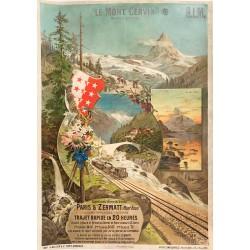 F. Hugo d'Alési. Le Mont Cervin. PLM. Vers 1893.