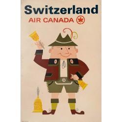 Switzerland. Air Canada. Vers 1965.