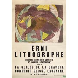 Hans Erni. Exposition Erni Lithographe, Lausanne, 1957.