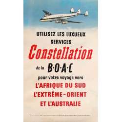 BOAC. Constellation. Vers 1950.