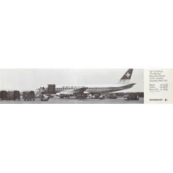 Swissair. Schweiz - New York. 1968.