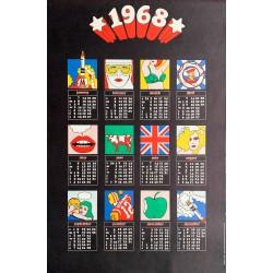 Popprint. Calendar 1968. Pop Art Poster. 1968