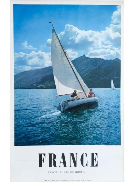 Georges Brun. France. Lac du Bourget. Ca 1960.