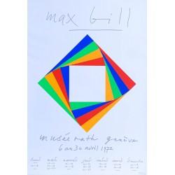 Max Bill au Musée Rath, Genève. 1972.
