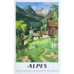 Georges Emile Capon. SNCF Alpes. 1956.