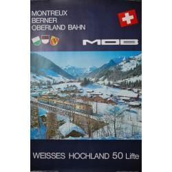 Montreux Oberland Bernois. Gstaad. Villiger. 1965.