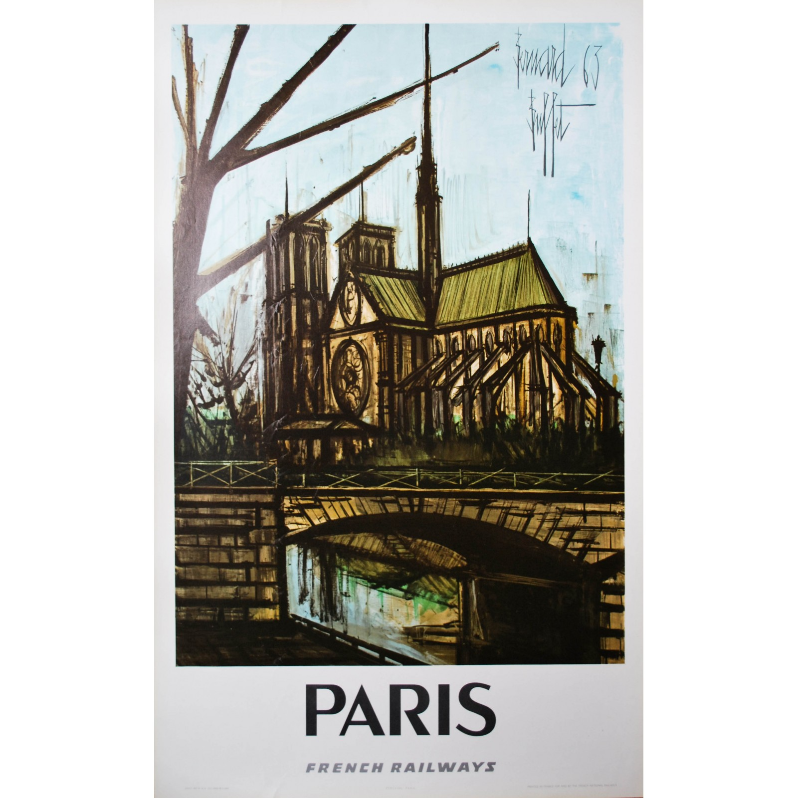Paris bernard buffet 1963 posters we love for Bernard buffet vente